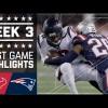 Texanos de Houston 0-27 Patriotas de Nueva Inglaterra en la Semana 3