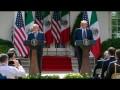 Pronunciamiento conjunto de AMLO y Donald Trump en los jardines de la Casa Blanca