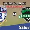 Pachuca vs Cafetaleros de Tapachula en Vivo – Liguilla Copa MX – Octavos de Final – Martes 25 de Septiembre del 2018