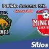 Ver Potros UAEM vs Mineros de Zacatecas en Vivo – Ascenso MX en su Torneo de Apertura 2018