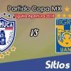 Pachuca vs Tigres en Vivo – Cuartos de Final – Copa MX – Miércoles 3 de Octubre del 2018