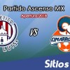 Ver Atlético San Luis vs Cimarrones de Sonora en Vivo – Partido de Ida Cuartos de Final – Ascenso MX en su Torneo de Apertura 2018