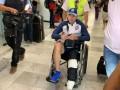 Pablo Aguilar llegó en sillas de rueda