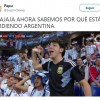 Aficionado del Cruz Azul responsable de la derrota de Argentina