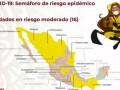 Semáforo Epidemiológico en México al Lunes 28 de Septiembre del 2020