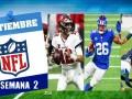 Partidos de la Semana 2 de la NFL 2020