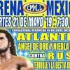 Lucha Libre CMLL de Nuevos Valores en Vivo – Martes 21 de Mayo del 2019