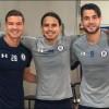 Caraglio, Flores y Zúñiga entrenan para recuperarse